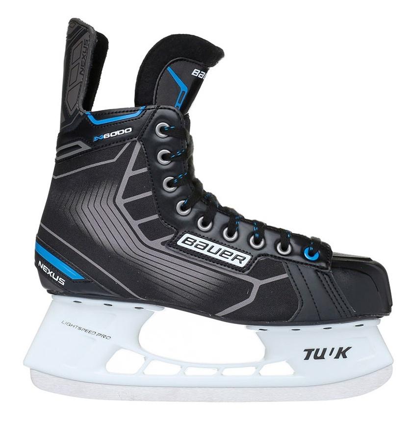 """Коньки хоккейные """"Bauer"""" Nexus N6000 (JR)                                                      (Размер: 2, R)"""